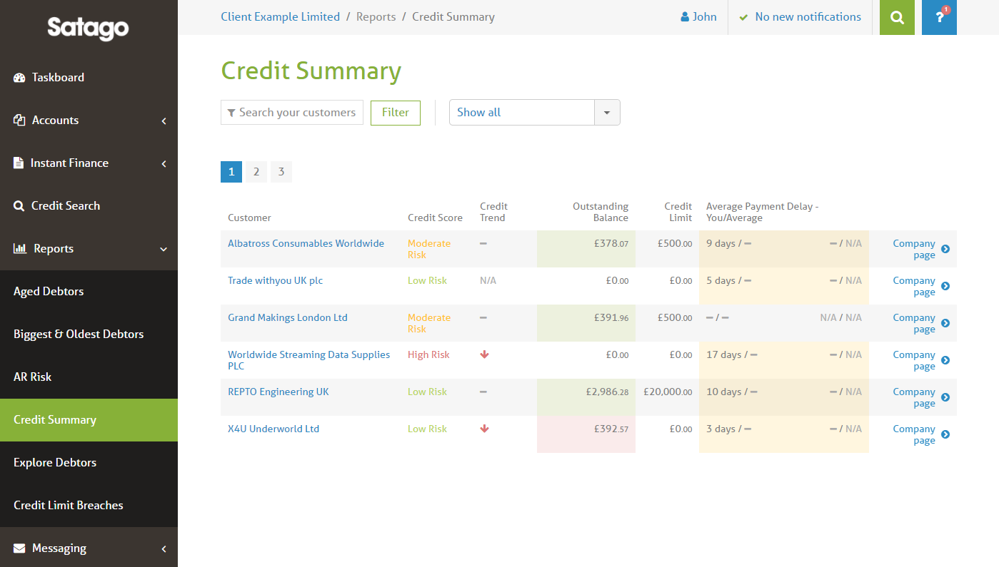 accounting software credit control