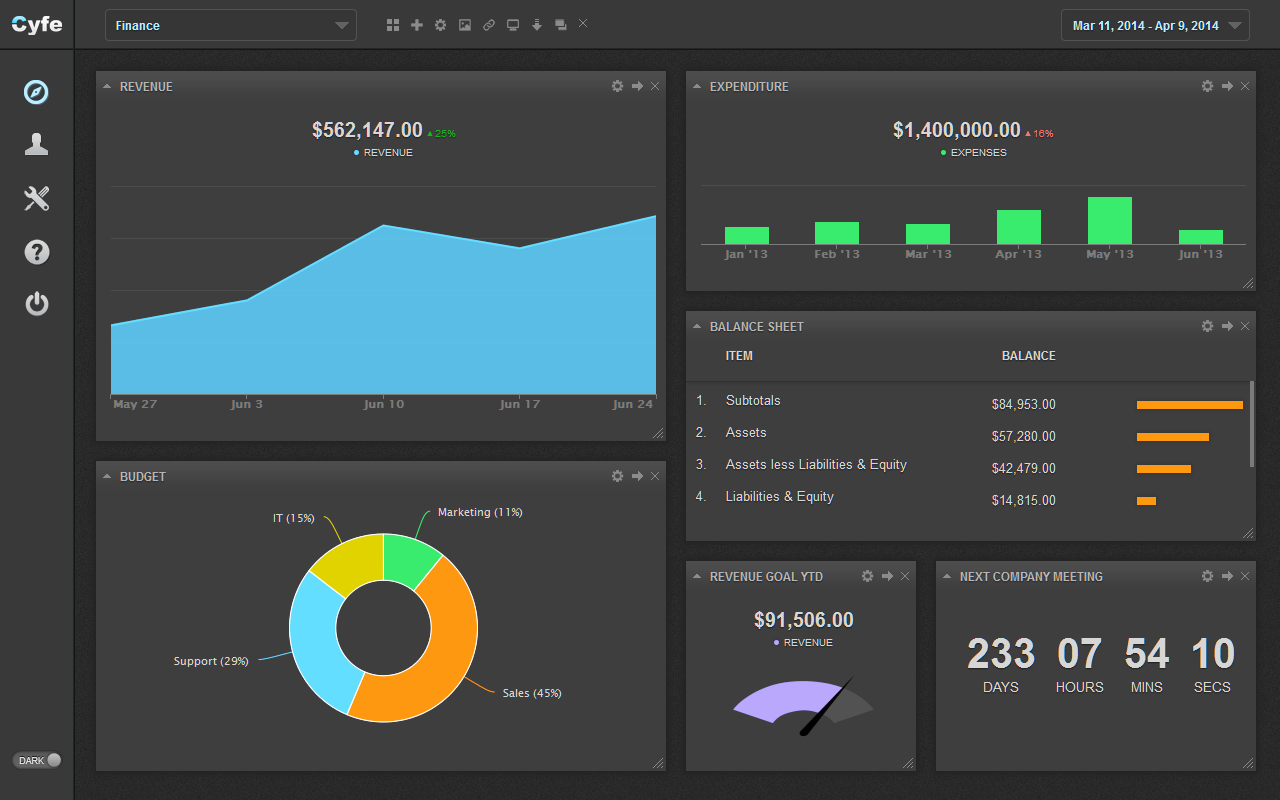 accounting software dashboard