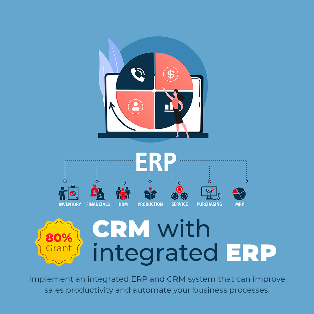 ERP with integrated CRM - PSG 80% Grant Singapore 2